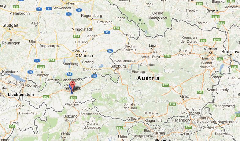 Innsbruck, Austria. maps.google.com